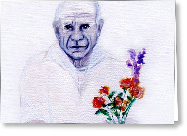 Pablo Greeting Cards - Primroses for Picasso Greeting Card by Michela Akers