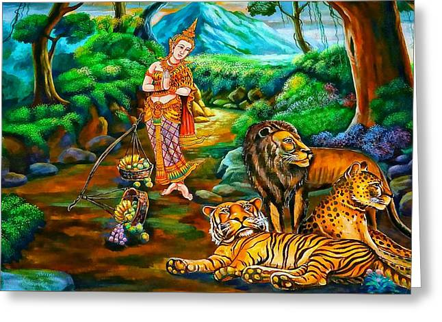 Princes Greeting Cards - Prince In The Forest Of Life Greeting Card by Ian Gledhill
