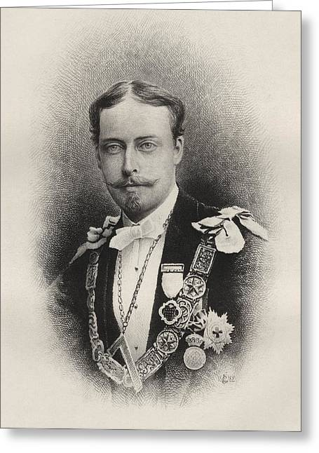 Leopold Greeting Cards - Prince Leopold Duke Of Albany 1853 To Greeting Card by Ken Welsh