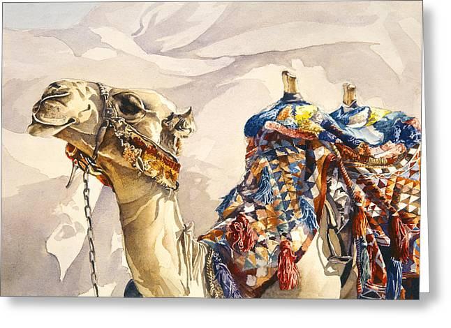 Jordan Paintings Greeting Cards - Prince of the Desert Greeting Card by Beth Kantor