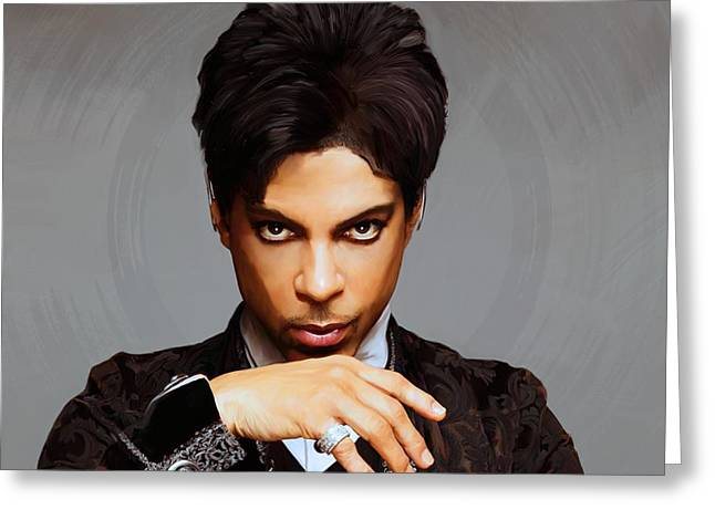 Prince Greeting Card by Paul Tagliamonte