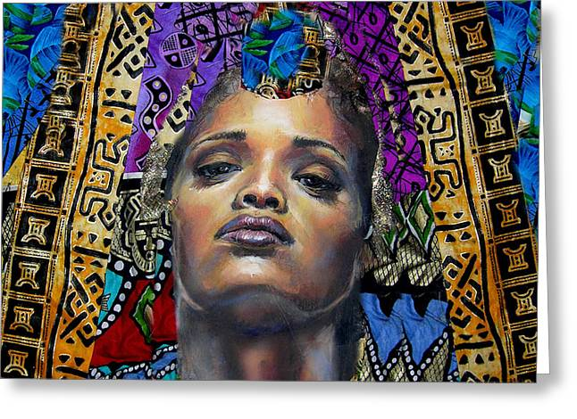 African-american Mixed Media Greeting Cards - Princess 1 Greeting Card by Gary Williams