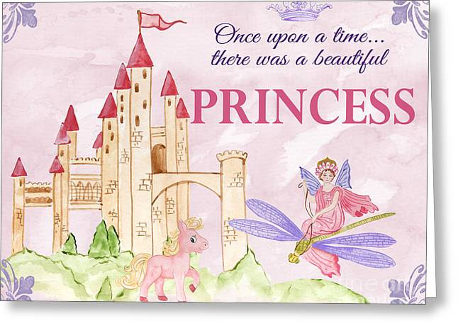 Princess-jp3584-b Greeting Card by Jean Plout