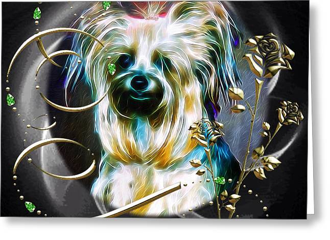 Toy Dog Greeting Cards - Princess Greeting Card by Kathy Kelly