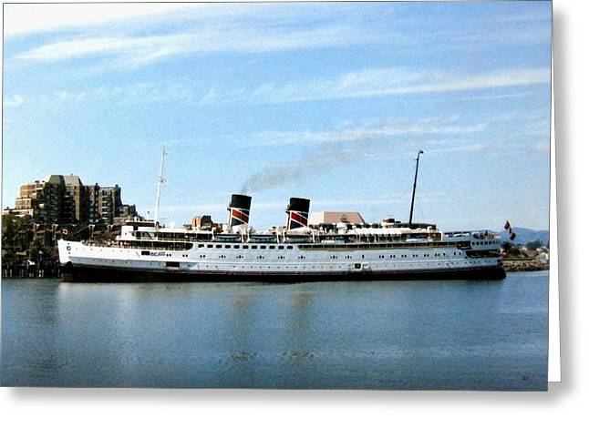 Historic Ship Greeting Cards - Princess Marguerite Greeting Card by Will Borden