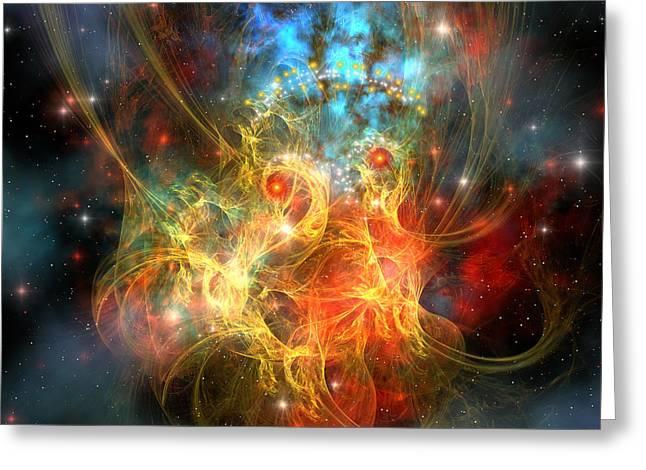 Interstellar Space Greeting Cards - Princess Nebula Greeting Card by Corey Ford