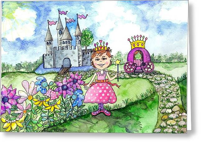 Royal Art Greeting Cards - Her Royal Princess Greeting Card by Shelley Wallace Ylst