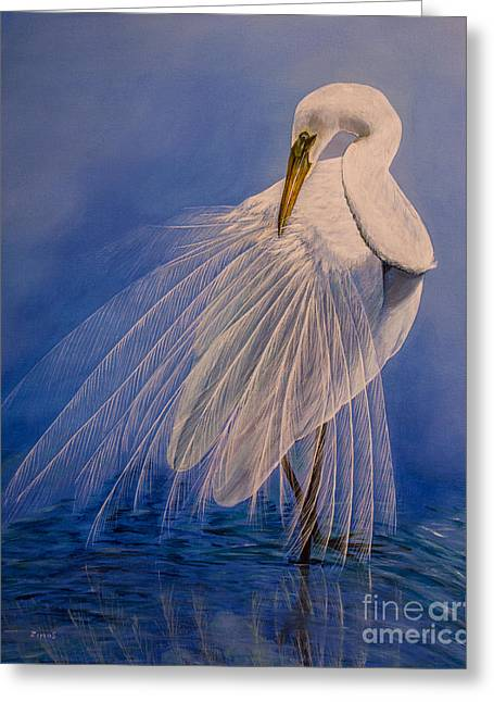 Original Greeting Cards - Princess of the mist Greeting Card by Zina Stromberg