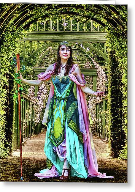 Princess Of The Vineyard Greeting Card by John Haldane