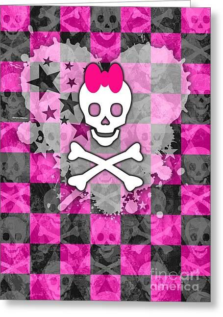 Roseanne Jones Greeting Cards - Princess Skull Greeting Card by Roseanne Jones