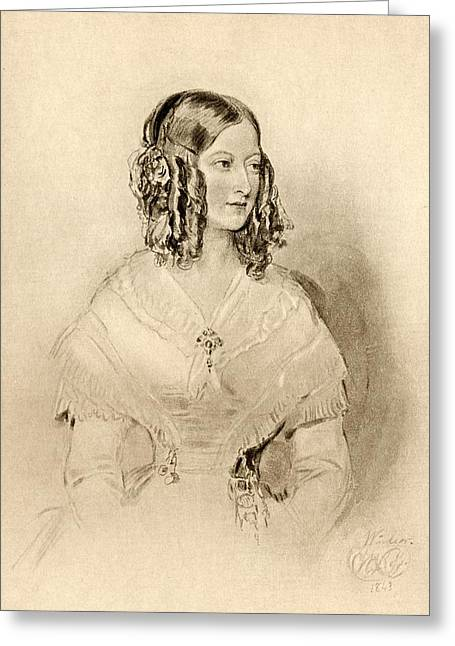Princess Victoire Of Saxe-coburg And Greeting Card by Vintage Design Pics