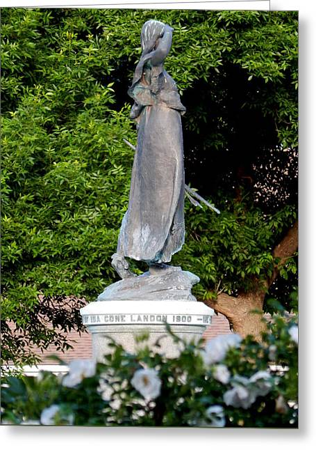 Garden Statuary Greeting Cards - Princess Wenonah Searches Greeting Card by Wild Thing