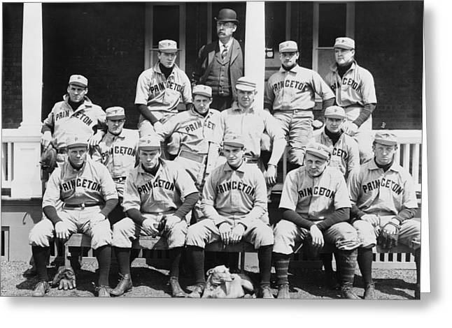 Amateur Greeting Cards - Princeton Baseball Team Greeting Card by American School