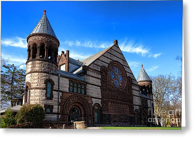 Princeton University Alexander Hall  Greeting Card by Olivier Le Queinec