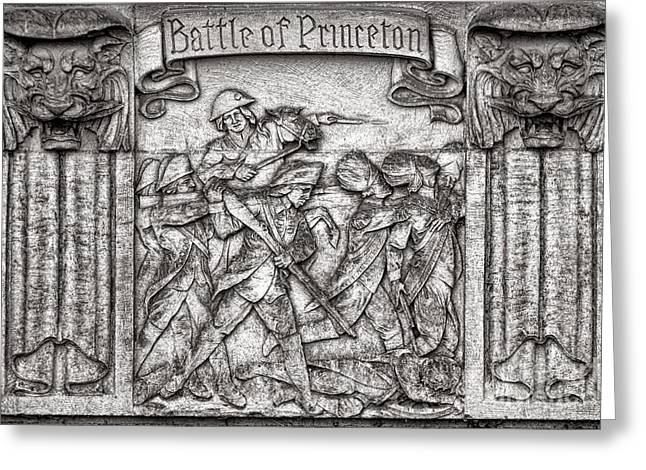Princeton University Greeting Cards - Princeton University Battle Commemorative Plaque Greeting Card by Olivier Le Queinec