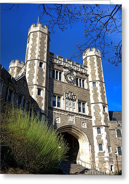 Blair Greeting Cards - Princeton University Blair and Buyers Hall Tower Greeting Card by Olivier Le Queinec