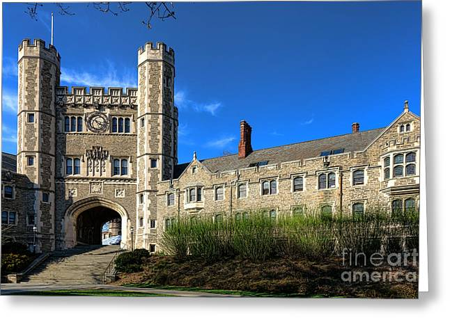 Princeton Greeting Cards - Princeton University Buyers Hall  Greeting Card by Olivier Le Queinec