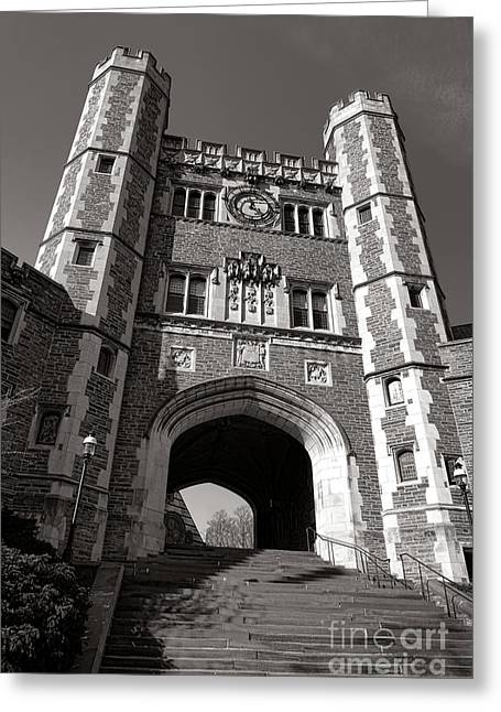 Blair Greeting Cards - Princeton University Buyers Hall Tower Stairs Greeting Card by Olivier Le Queinec
