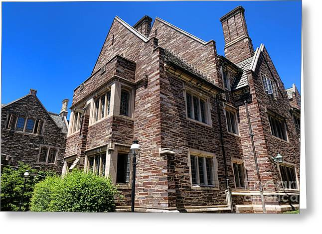 Princeton Greeting Cards - Princeton University Cuyler Hall Greeting Card by Olivier Le Queinec