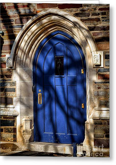Princeton Greeting Cards - Princeton University Dorm Building Door Greeting Card by Olivier Le Queinec
