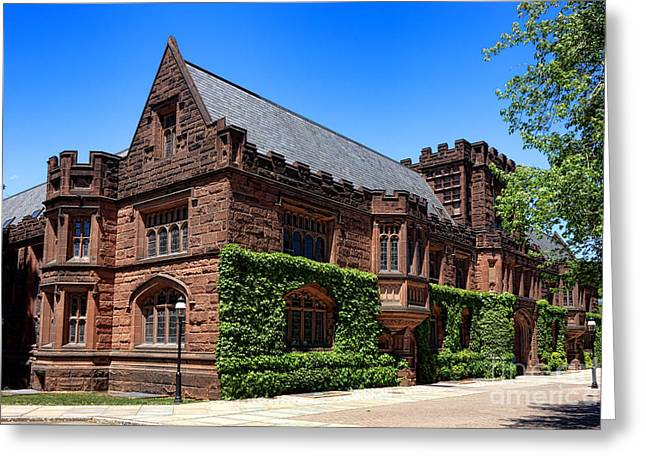 Princeton University Greeting Cards - Princeton University East Pyne Hall South East Corner Greeting Card by Olivier Le Queinec