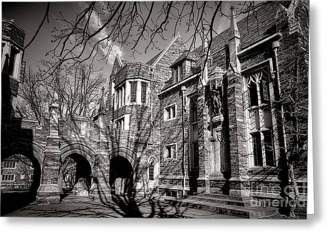 Princeton Greeting Cards - Princeton University Foulke and Henry Halls Archway Greeting Card by Olivier Le Queinec