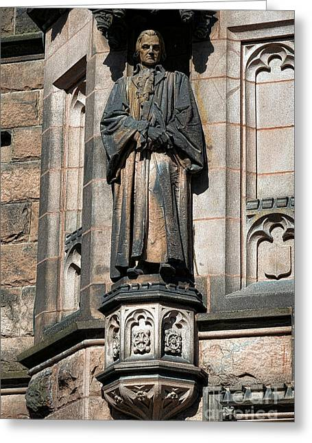 Ivy League Greeting Cards - Princeton University J Witherspoon Statue  Greeting Card by Olivier Le Queinec