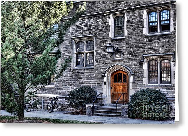 Ivy League Greeting Cards - Princeton University Little Hall Greeting Card by Olivier Le Queinec