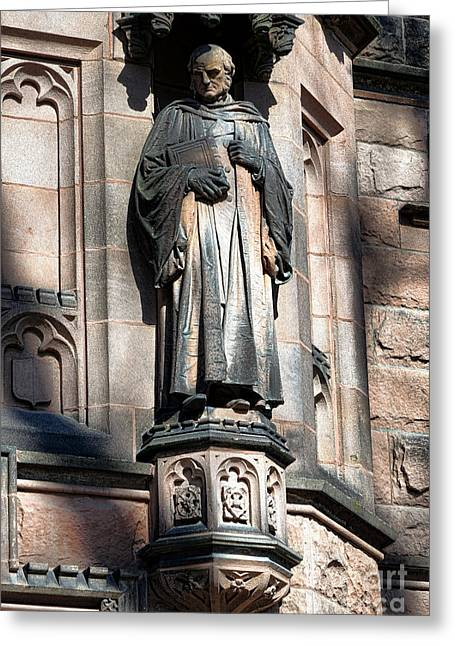 Ivy League Greeting Cards - Princeton University Mc Cosh Statue  Greeting Card by Olivier Le Queinec