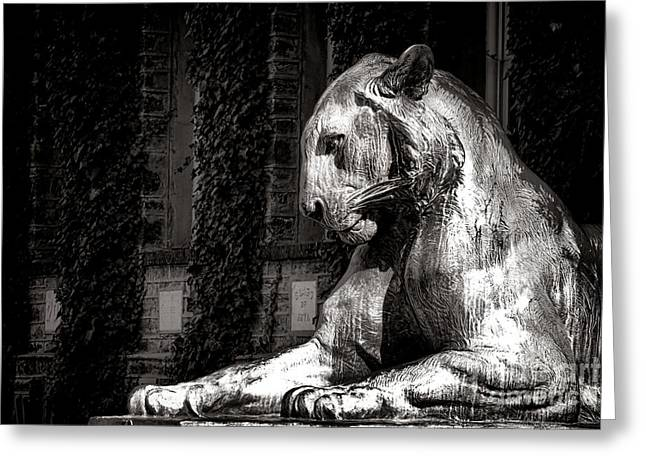 Princeton University Mighty Tiger  Greeting Card by Olivier Le Queinec