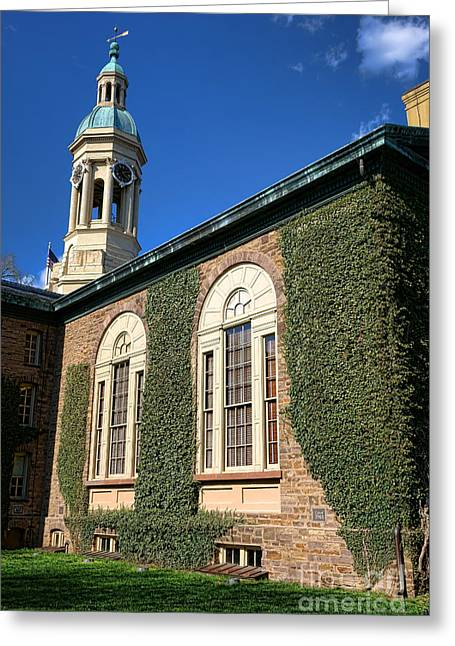 Cupola Photographs Greeting Cards - Princeton University Nassau Hall Cupola Greeting Card by Olivier Le Queinec
