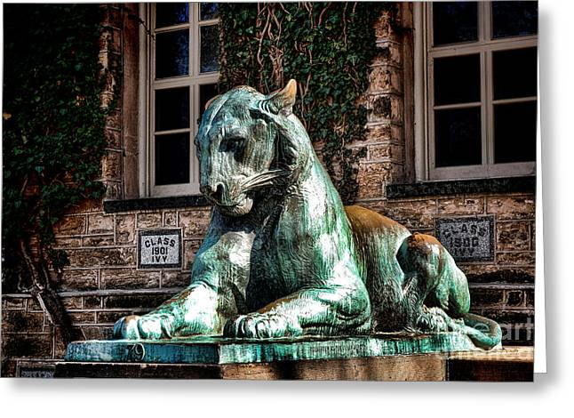 Princeton Greeting Cards - Princeton University Nassau Hall Tiger  Greeting Card by Olivier Le Queinec