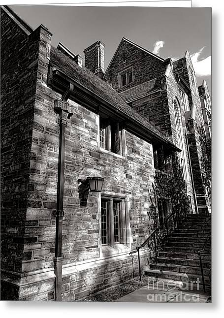 Princeton Greeting Cards - Princeton University Pyne Hall Stairs Greeting Card by Olivier Le Queinec