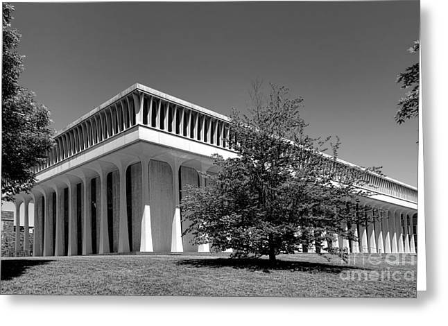 Woodrow Greeting Cards - Princeton University Robertson Hall Greeting Card by Olivier Le Queinec