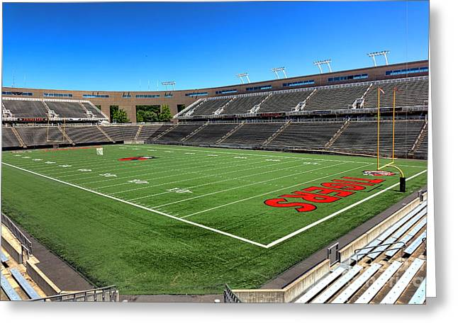 Princeton University Stadium Powers Field Greeting Card by Olivier Le Queinec