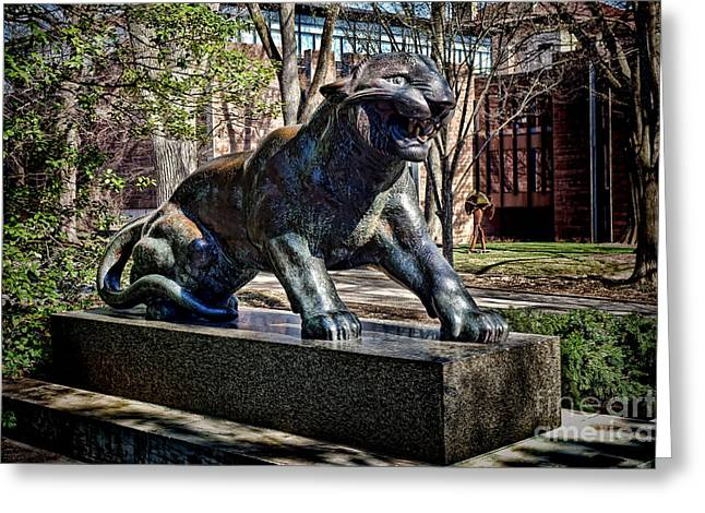 Princeton Greeting Cards - Princeton University Tiger Statue Greeting Card by Olivier Le Queinec