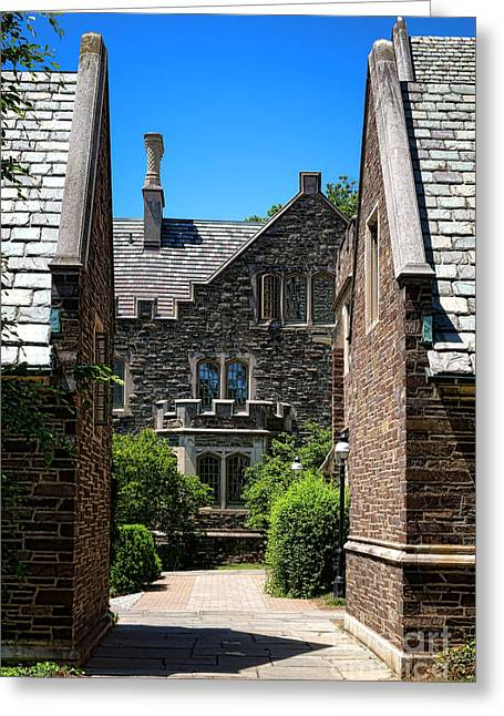 Passageways Greeting Cards - Princeton University Wright Hall Greeting Card by Olivier Le Queinec