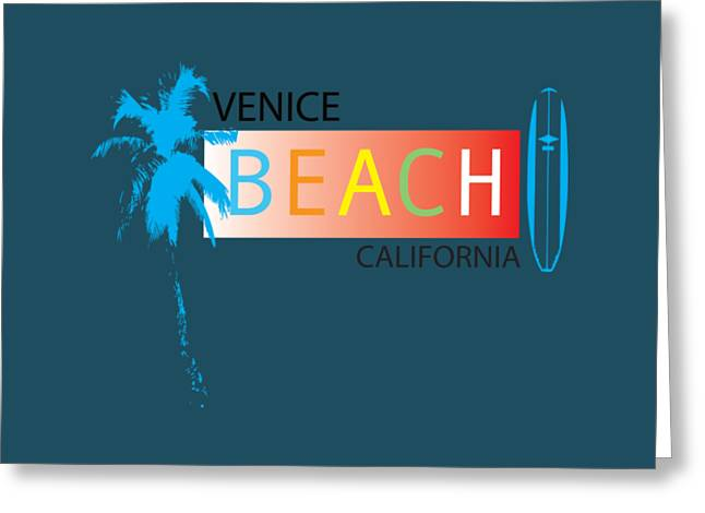 California Beach Art Greeting Cards - Venice Beach California Greeting Card by K D Graves