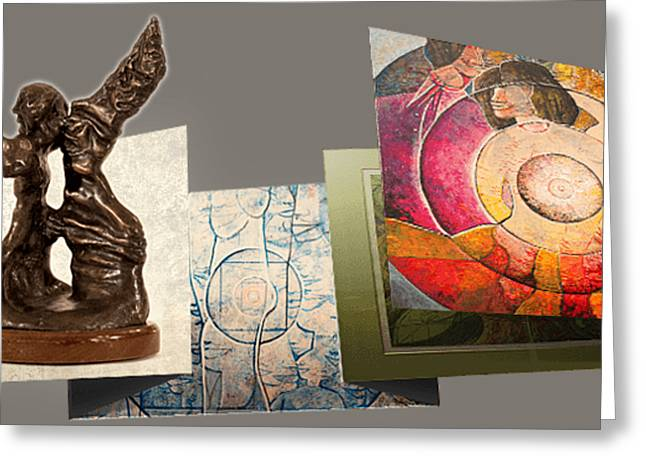 Prints, Sculptures Greeting Card by Robert Sherman