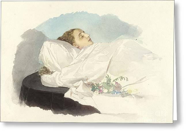 Prinzessin Von Bourbon Sizilien Greeting Card by Maria Annunziata