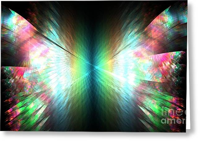 Angel Blues Greeting Cards - Prism Butterfly Greeting Card by Kim Sy Ok