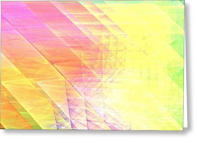 Chakra Rainbow Greeting Cards - Prism Lines Greeting Card by Kim Sy Ok
