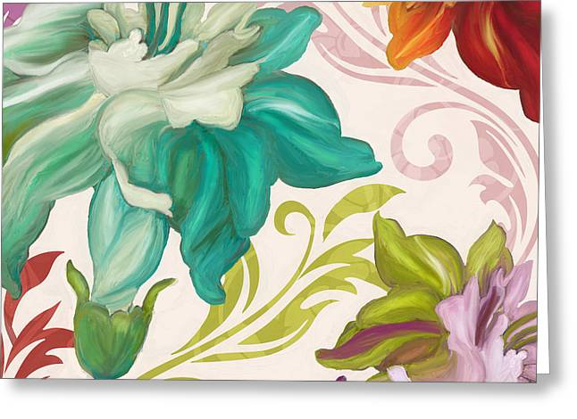 Prism Poetry Art Nouveau Pattern Greeting Card by Mindy Sommers