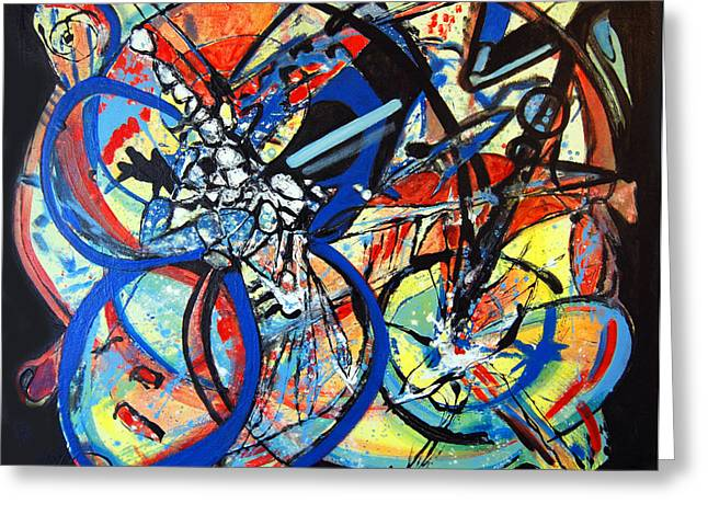 Energize Paintings Greeting Cards - Prism Greeting Card by Rosalyn Stevenson