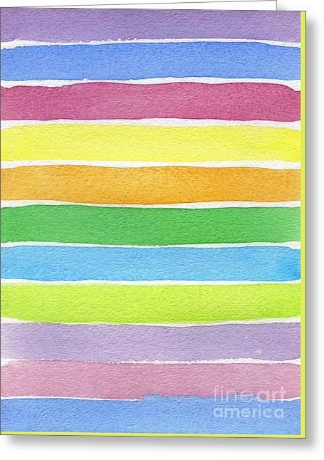 Prismatic Impression Greeting Card by Norma Appleton