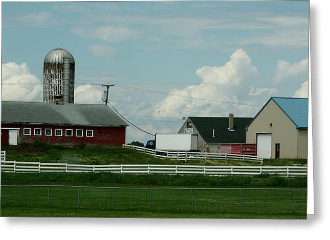 Maine Farms Greeting Cards - Prison Farm Greeting Card by Bonnie Brann
