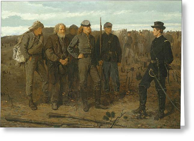 Prisoners From The Front Greeting Card by Winslow Homer