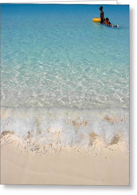 Half Moon Cay Greeting Cards - Pristine Beach at Half Moon Cay Greeting Card by Margaret Bobb