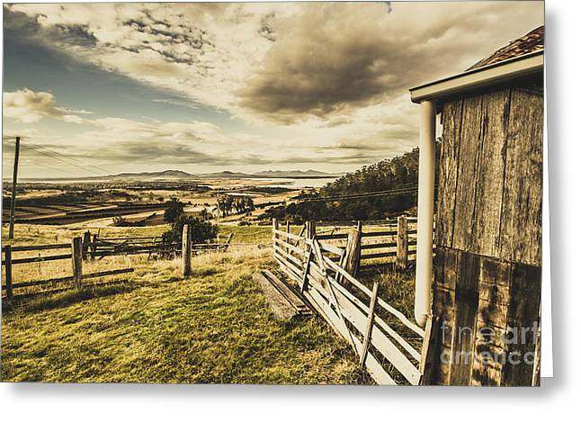Pristine Hinterland Lookout  Greeting Card by Jorgo Photography - Wall Art Gallery