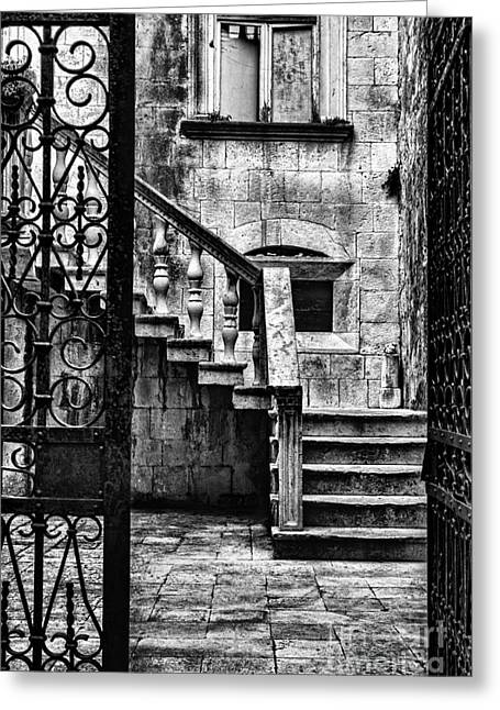Opulent Greeting Cards - Private Courtyard Greeting Card by Andrew Paranavitana